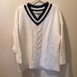 Navy and white Aerie sweater